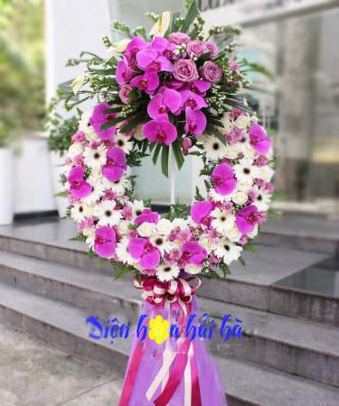 Hoa chia buồn hồ điệp tím