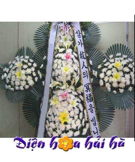 Kệ hoa đám tang kiểu Hàn Quốc 02