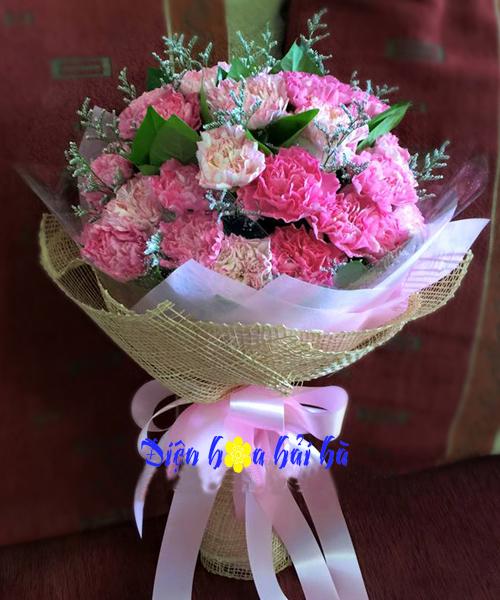 Bó hoa cẩm chướng hồng
