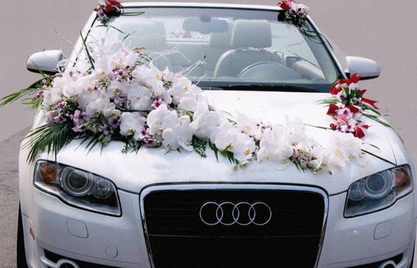 Mẫu trang trí xe hoa cô dâu hoa hồ điệp