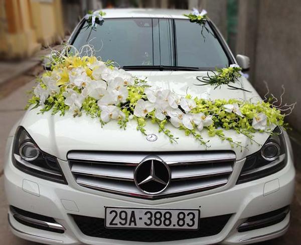Mẫu xe hoa cưới đẹp hồ điệp lan vàng