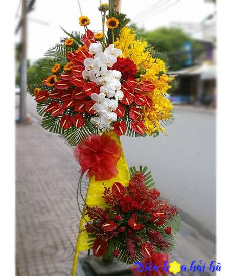 Lẵng hoa chúc mừng khai trương tại Hà Nội