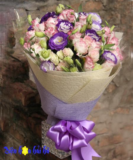 Bó hoa cát tường đẹp tặng mẹ