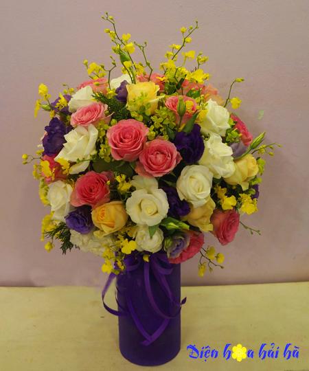 Bình hoa tặng 20-10 đẹp