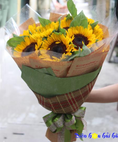 Bó hoa hướng dương tặng mẹ ngày của mẹ