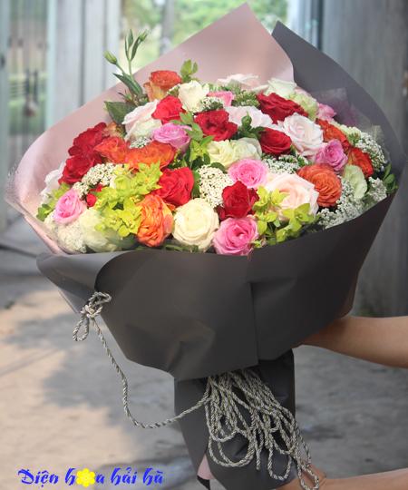 Bó hoa hồng VIP Rực cháy