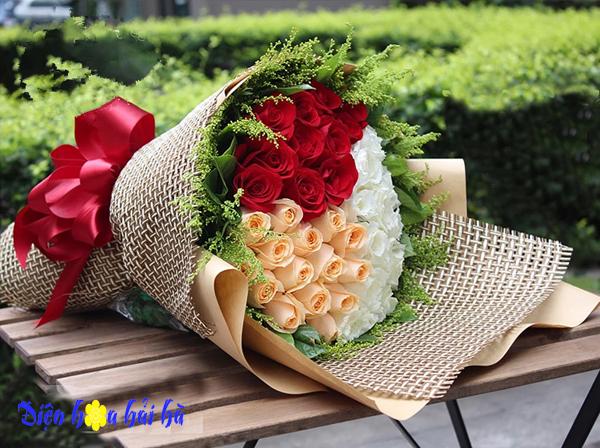 Bó hoa Valentine 3 mầu