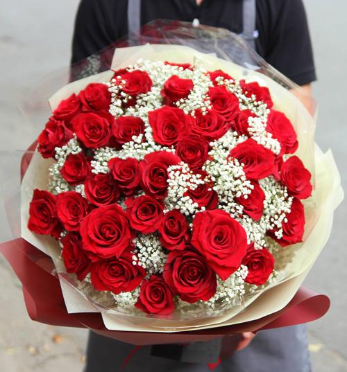 Thà chết không xa nhau – Bó hoa 40 hoa hồng đỏ