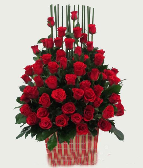 Giỏ hoa ngày valentine 14-2
