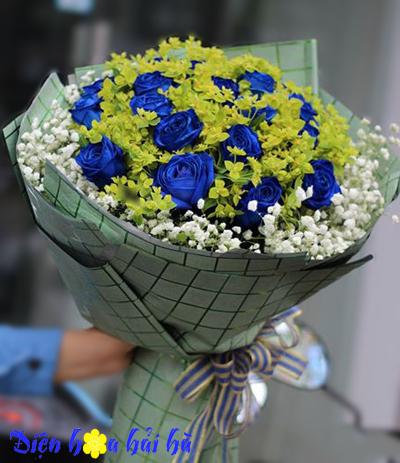 Yêu em bằng cả trái tim – Hoa hồng xanh vĩnh cửu