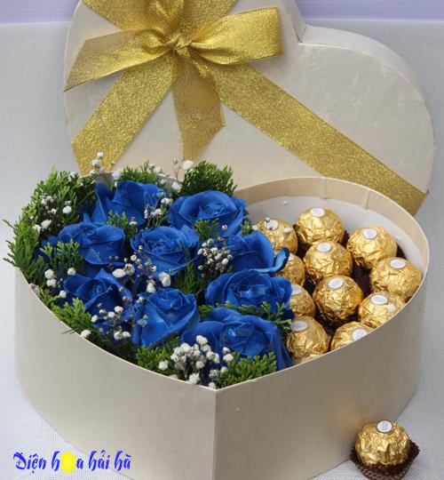 Yêu Em mãi mãi – Hộp hoa hồng xanh vĩnh cửu