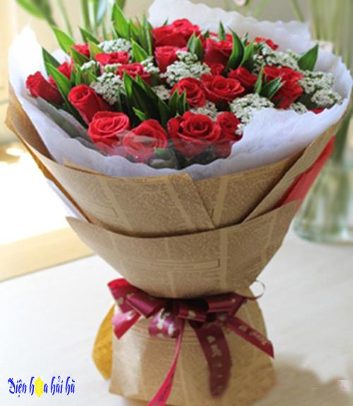 Bó hoa hồng đỏ tặng vợ ngày của mẹ
