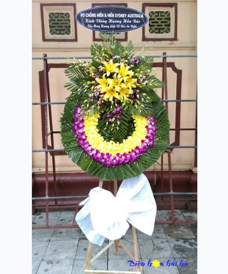 Địa chỉ bán vòng hoa tang lễ lan tím lan vàng