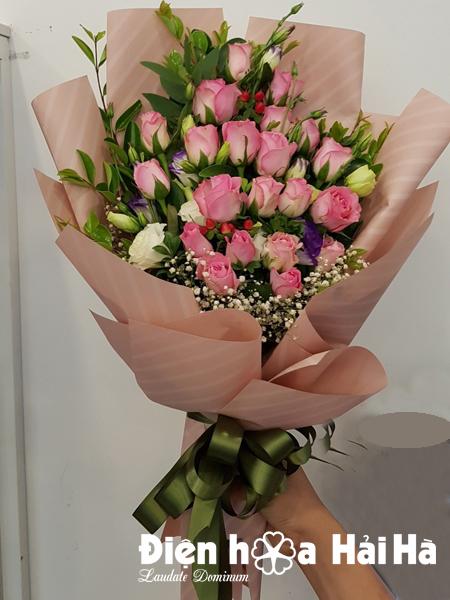 Bó hoa đẹp ngày 20/10 hoa hồng sen