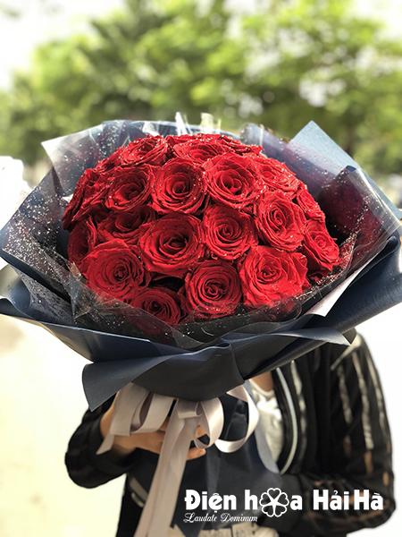 Bó hoa hồng đỏ nhập Ecuador tình yêu bất diệt