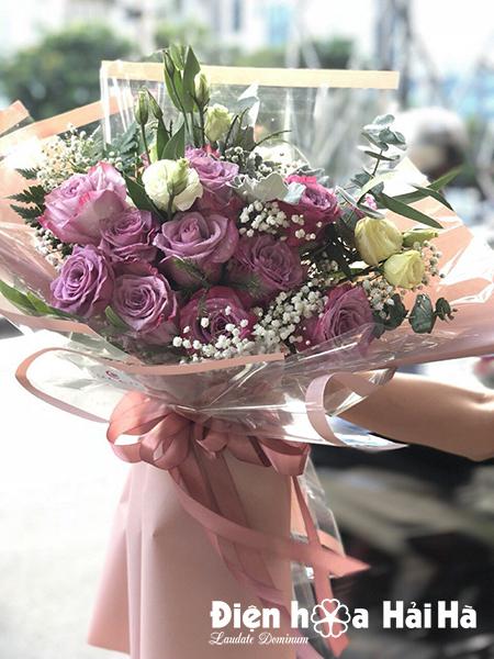 Bó hoa hồng tím Ecuador tặng Vợ ngày 20/10