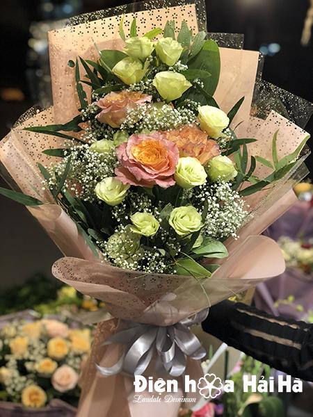 Bó 3 bông hồng Ecuador mầu cam