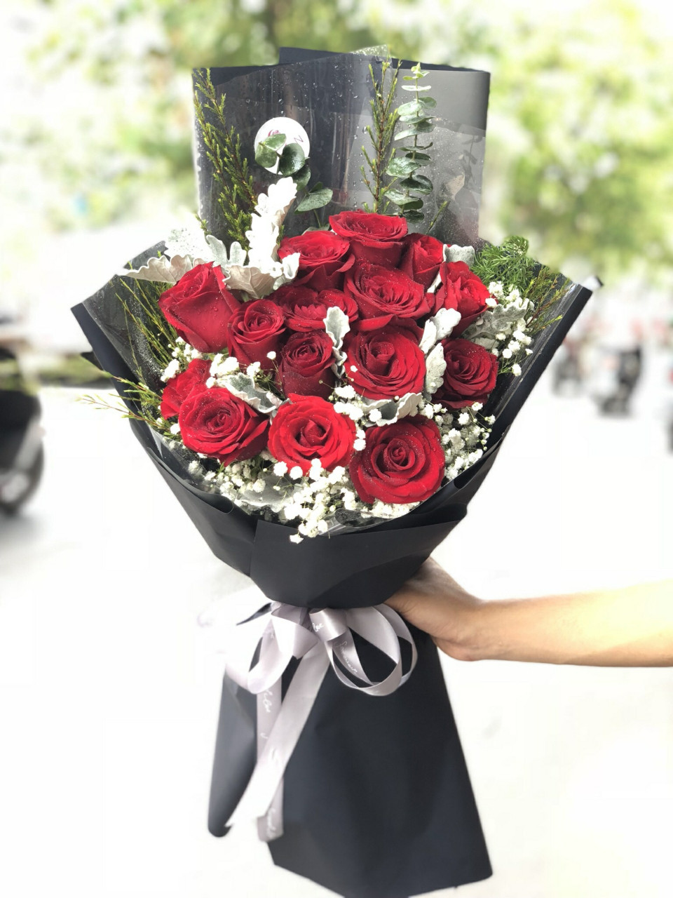 Bó hoa hồng đỏ nhập Ecuador