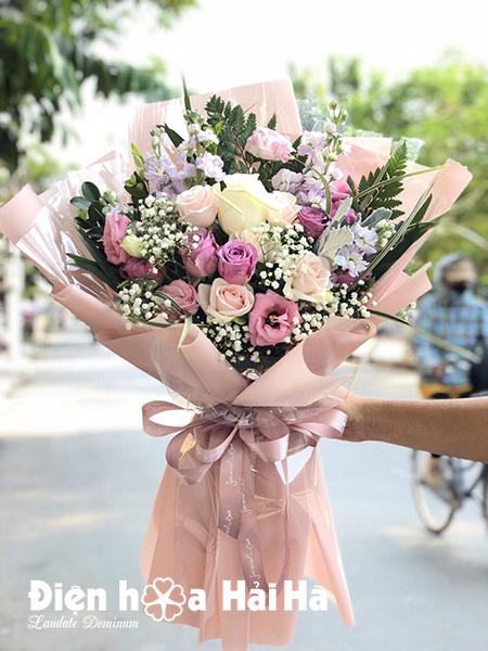 Bó hoa tặng ngày 20/10 Vintage
