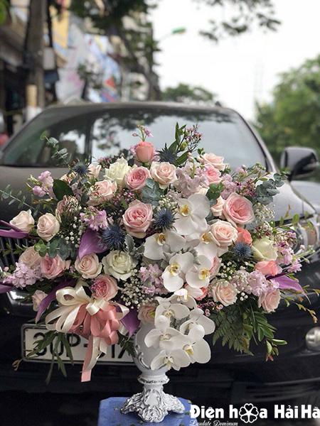 Bình hoa cao cấp tặng chúc mừng