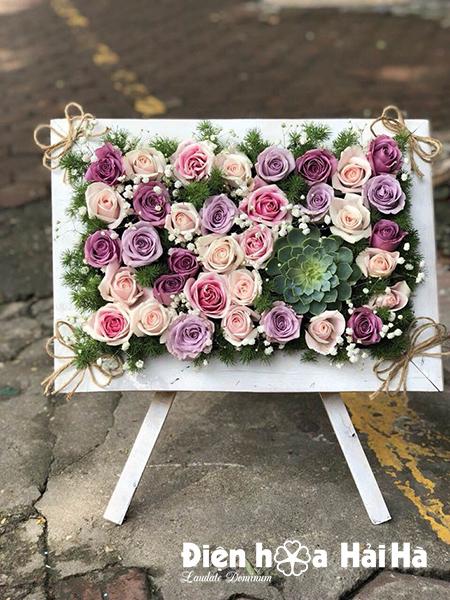 Khung ảnh hoa độc đáo lạ mắt 20/10/2019