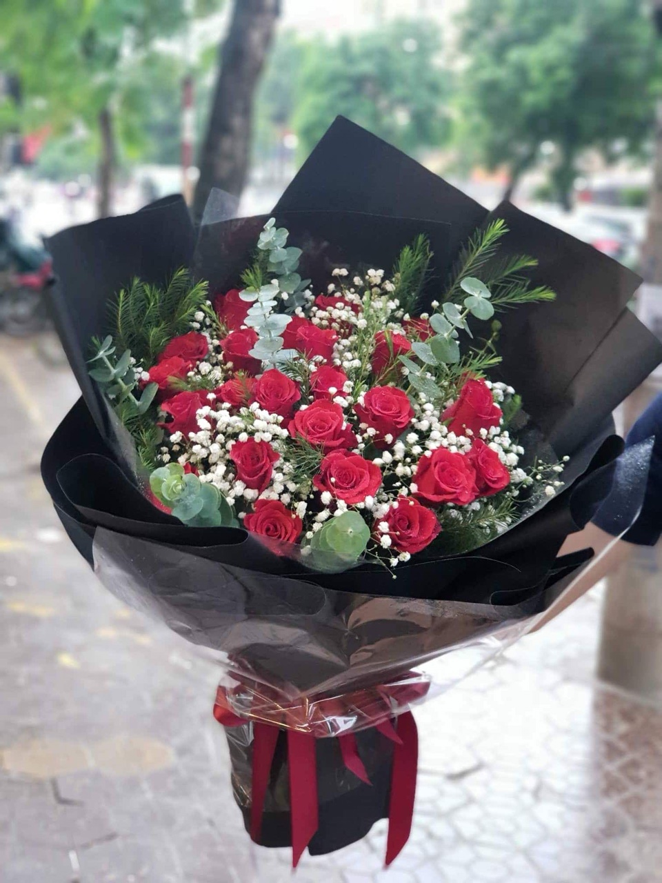 Bó hoa hồng đỏ ngày Valentine
