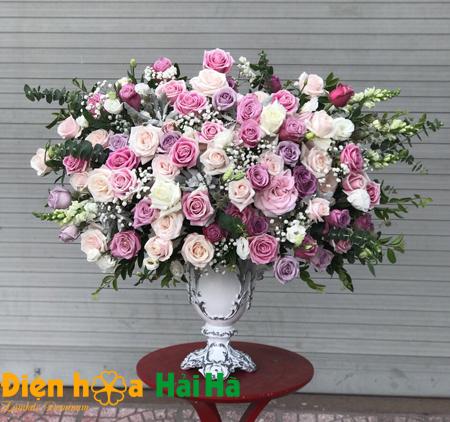 Bình hoa chúc mừng ngày 20/10 tặng Phụ nữ tinh tế