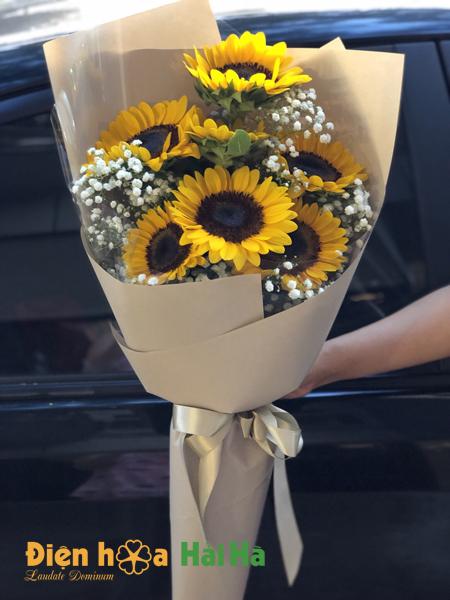 Bó hoa đẹp ngày 20/10 hoa hướng dương