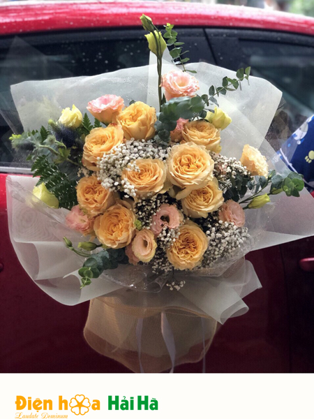 Bó hoa tặng ngày 20/10 hoa hồng Ecuador cho phái nữ