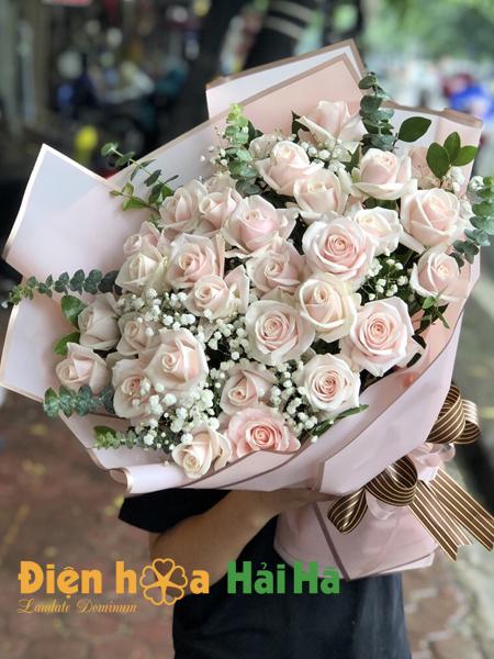 Bó hoa hồng phấn yêu thương chúc mừng ngày 20/10
