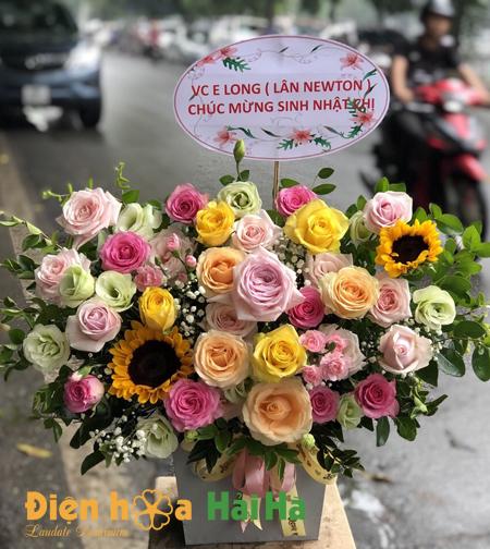 Giỏ hoa siêu dễ thương hoa 20 10 Hà Nội