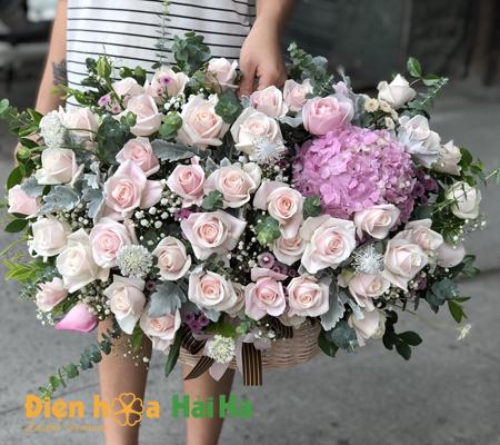 Bó hoa vững bước phát triển hoa đẹp ngày 20/10