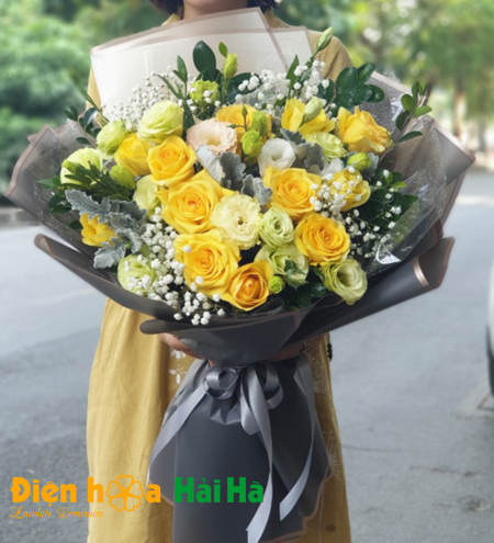 Bó hoa hồng xinh tươi hoa tặng 20 tháng 10