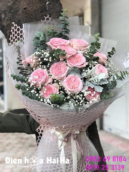 Bó hoa hồng Ohara tặng ngày báo chí VN