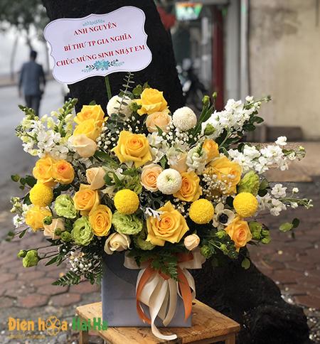 Giỏ hoa tặng ngày 21.6