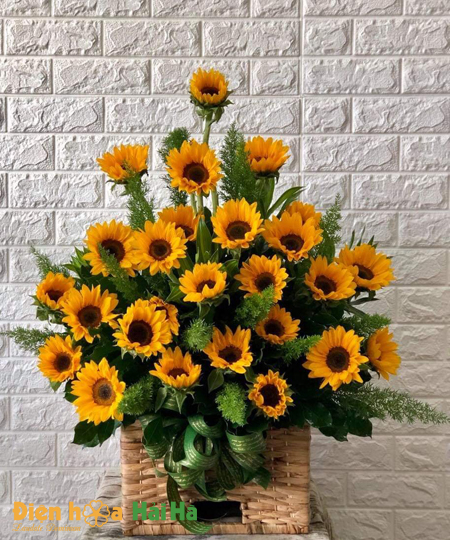 Giỏ hoa hướng dương tặng Ngày báo chí VN
