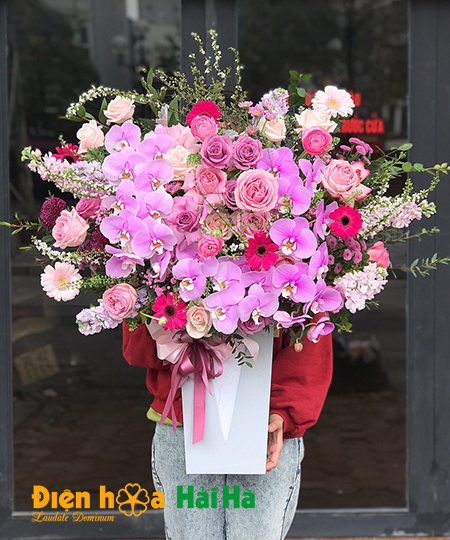 Hoa chúc mừng 8/3 mầu hồng trang nhã