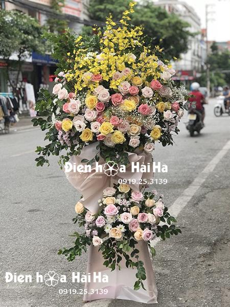 Lẵng hoa mừng khai trương giá rẻ phong cách