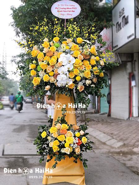 Lẵng hoa chúc mừng giá rẻ đẹp tinh tế tại Hà Nội