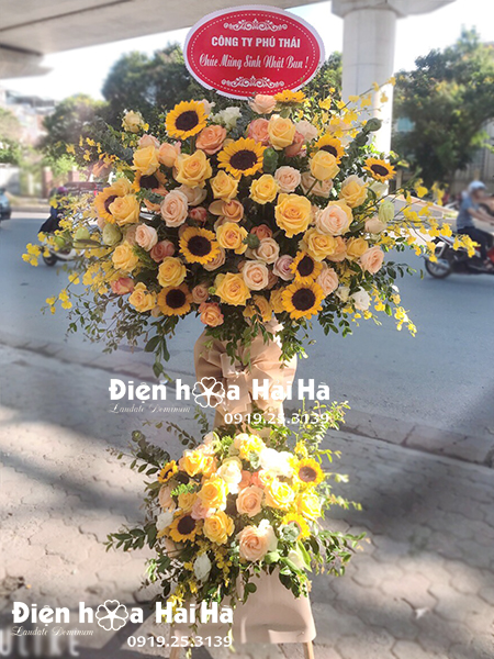 Đặt hoa mừng khai trương giá rẻ- Kim Tiền Tài Lộc