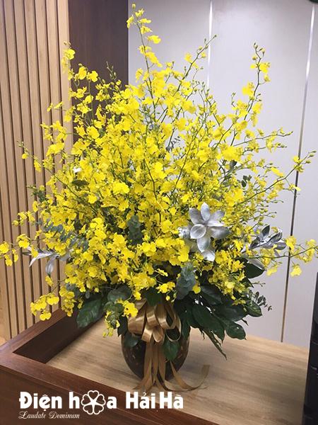 Bình hoa lan vũ nữ để bàn – Phồn thịnh