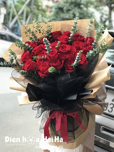 Bó hoa hồng đỏ đẹp – Hoàn hảo