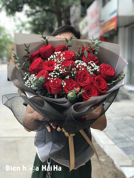 Bó hoa hồng đỏ đẹp – Chân thành