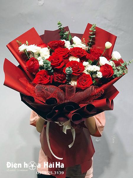 Bó hoa hồng đỏ đẹp – Hẹn ước