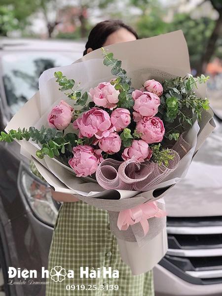 Bó hoa mẫu đơn đẹp – Quyến rũ