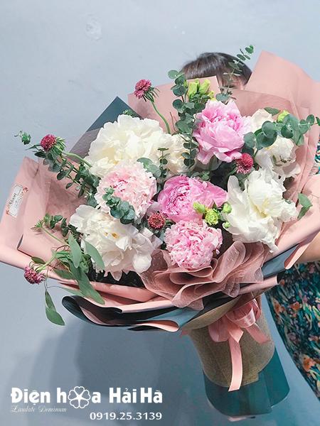 Bó hoa mẫu đơn đẹp – Vượng khí