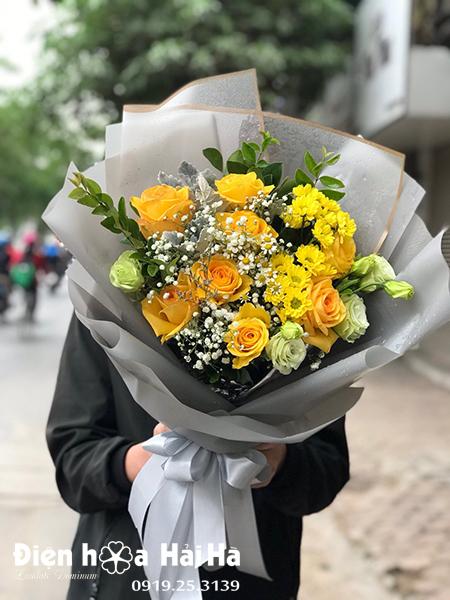 Bó hoa tặng sinh nhật – Hoàn mỹ