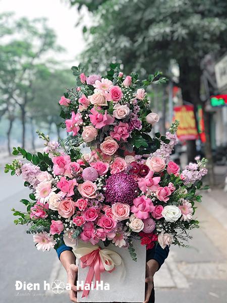 Giỏ hoa sinh nhật đẹp – Vạn sự như ý