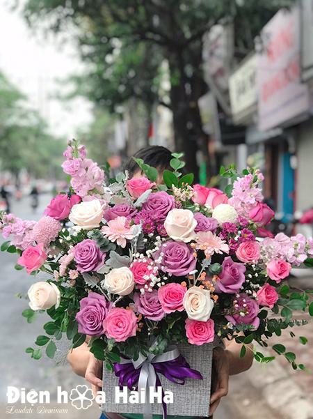 Giỏ hoa chúc mừng 20 tháng 11 – Kính Mến