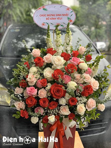 Giỏ hoa ngày 20/10 tặng vợ – Dịu Ngọt